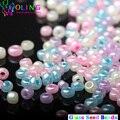 2016 nueva AAA 2 MM colores del caramelo multicolor mezclado Glass Seed beads 1700 unid Separador de Bolas de BRICOLAJE Pulsera collar de gargantilla fabricación de la joyería