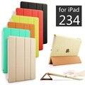 Высокое Качество PU Кожаный Tablet Смарт Обложка Чехол Ultra Slim дизайн Для Apple iPad 2/3/4 iPad2 iPad3 iPad4 сетчатки