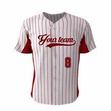 Кавасаки на заказ Молодежный бейсбольный Топ на пуговицах красная полоса стильная сублимированная майка из Джерси Для Софтбола для мужчин/женщин плюс размер