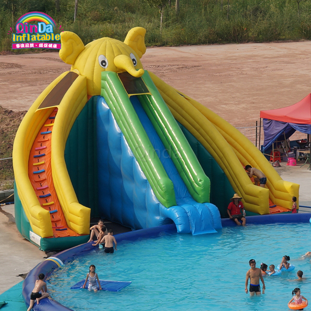 Commercial Outdoor Giant Elephant Inflatable Water Slide For Swimming Pool In Inflatable