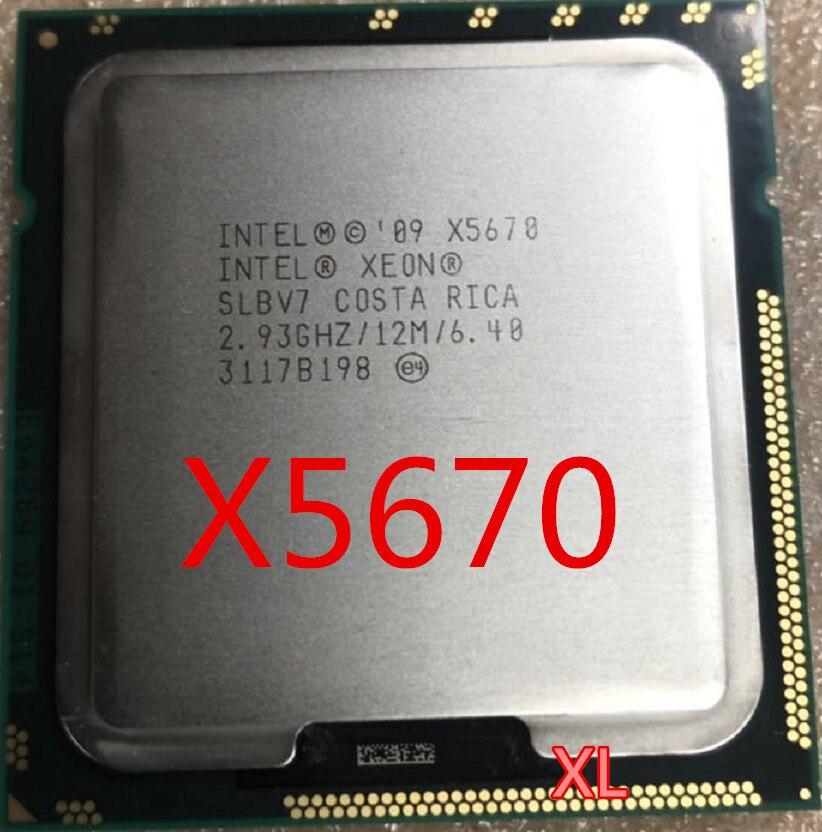 12M Cache, 2.93 GHz, 6.40 GT//s Intel QPI LGA1366 PC Computer Server CPU Intel Xeon Processor X5670