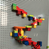 Criativo tamanho grande bloco de construção parede baseplate designer mármore corrida blocos brinquedos educativos para crianças presentes natal