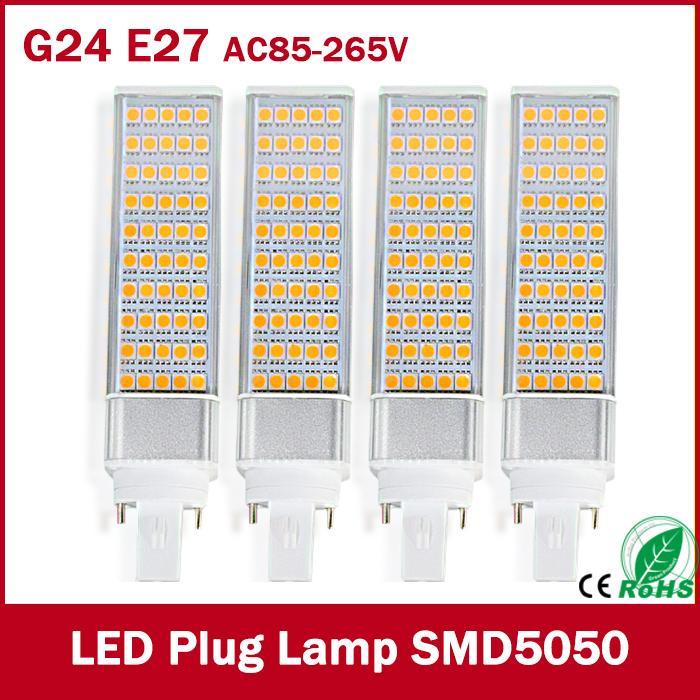 led corn bulb SMD 5050 led lamp 180 degree AC85-265V  7W 9W 10W 12W  15W led lighting E27 G24 led bulb 6pcs sencart g9 1500lm 15w smd2835 180 led corn bulb