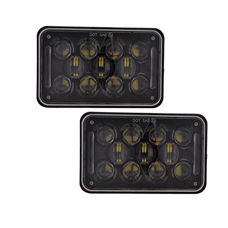 2 PCS 4 6 4x6 LED Light Bulb Headlights Sealed Beam Square Rectangular Headlamp for Freightliner FLD 120 112 FLD 4 6