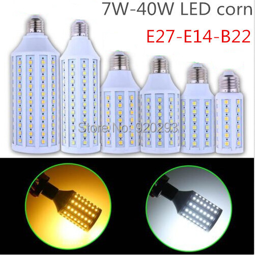 1x Super brightness 5W 7W 9W 12W 15W 25W 30W 40W E27 E14 B22 E26 SMD730 Screw Corn Light 110V-220V lighting angle led bulb