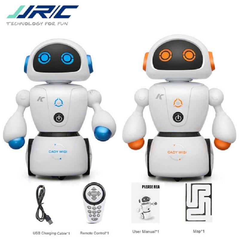 Intelligente Cady Wigi JJRC R6 Fernbedienung Programmierbare Tanzen USB RC Roboter Früh Pädagogisches Spielzeug für Kinder