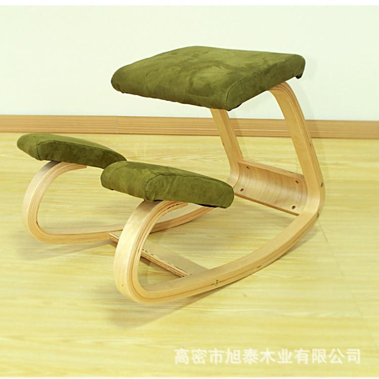 Hot Sale Ergonomic Kneeling Chair Stool Office Chair Rocking Wooden Kneeling Computer Posture Chair Correct Posture Anti-myopia