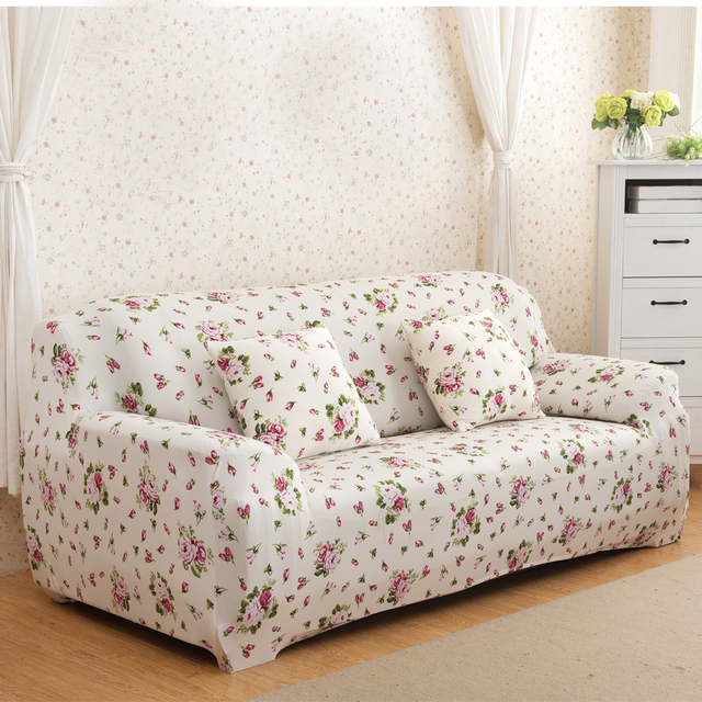 Stretch Chaise Sofa Cover Elasticity Flexible Printed Loveseat Couch Cover Protetor Funiture Canape Sectional Armchair Covers : chaise sofa cover - Sectionals, Sofas & Couches