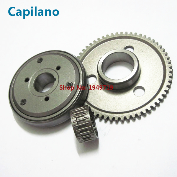US $28 0 |motorcycle/scooter GY6 125 starter clutch/one way clutch /startup  disc /start clutch boot gear assy for GY6 125 GY6 150 (type 2) on