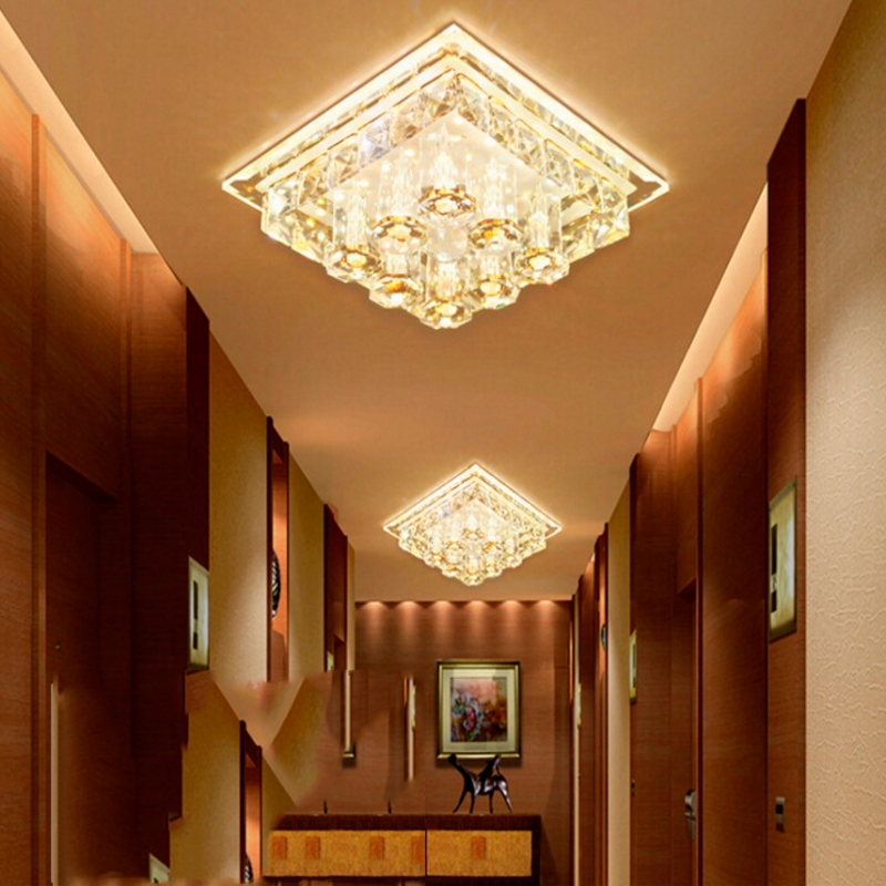 Good Modern Gold Top-class Crystal Lamp Living Room Bedroom Close To Ceiling Lamp Rain Drop Lighting Modern Chandelier Lights For Roo Ceiling Lights & Fans