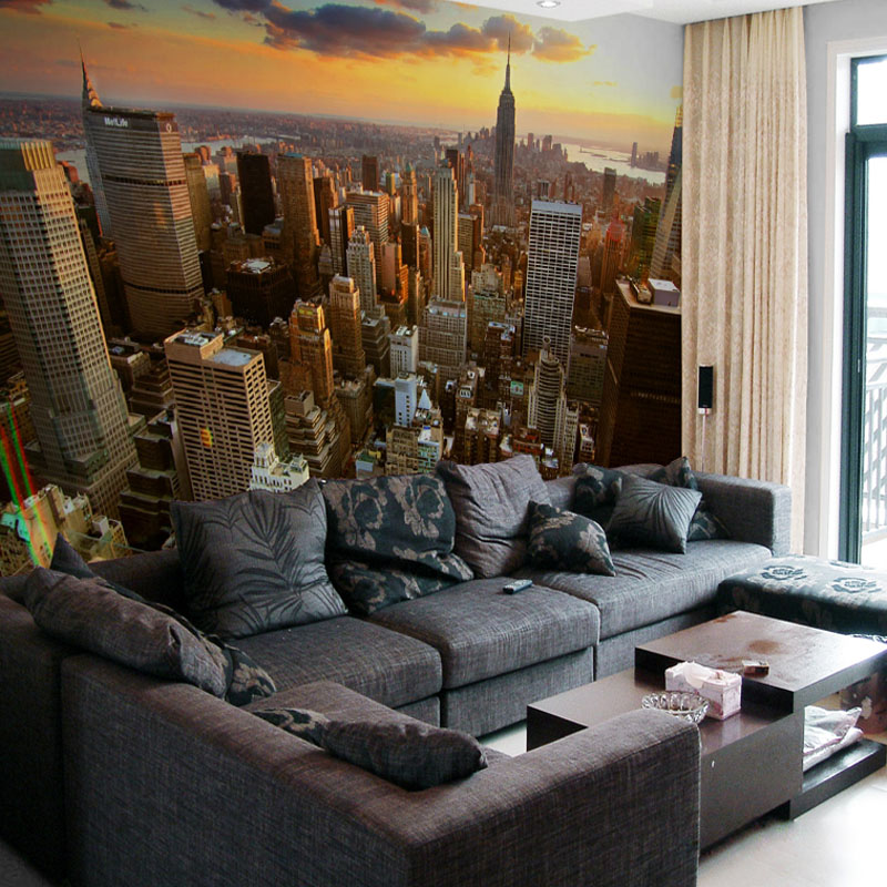 Custom 3D Mural Wallpaper New York City Evening Landscape Living Room Sofa Bedroom Background  Photo Wallpaper Art Wall Painting