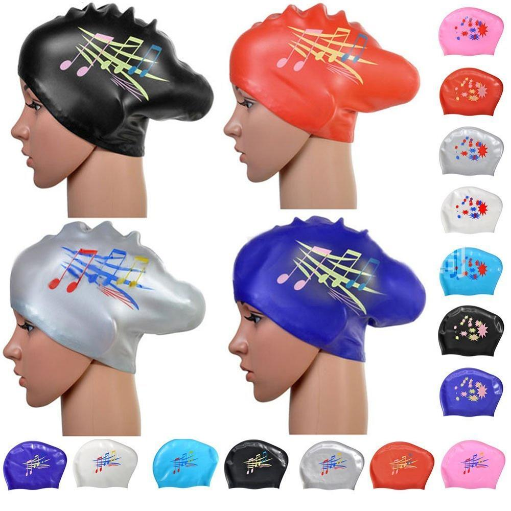 Long Hair Swimming Cap For Women Extra Large Rubber Silicone Waterproof Girls Swim Pool Hat Equipment Professional Diving Caps