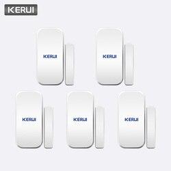 KERUI ذكي اللاسلكية الباب الفجوة جديد الأبيض 433 ميجا هرتز الاتصال اللاسلكية نافذة الباب المغناطيس دخول كاشف حساس نافذة أجهزة الاستشعار