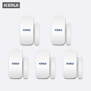 Image 1 - KERUI אינטליגנטי אלחוטי דלת פער חדש לבן 433 Mhz קשר אלחוטי דלת חלון מגנט כניסת גלאי חיישן חלון חיישנים