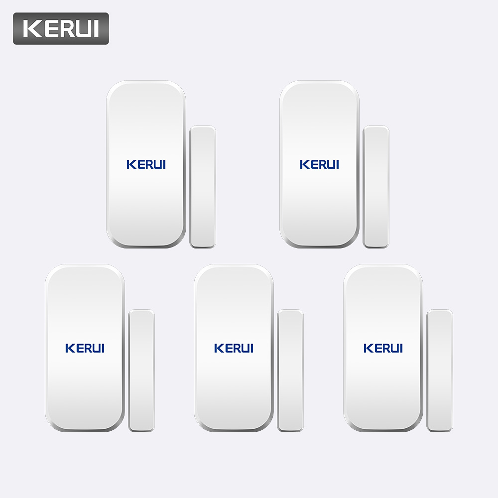 KERUI Intelligent Wireless Gap Door New White 433 Mhz Contact Wireless Door Window Magnet Detector Entry Detector Sensor Window Sensors