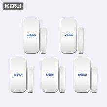 KERUI akıllı kablosuz kapı boşluğu yeni beyaz 433 Mhz İletişim kablosuz kapı pencere mıknatıs giriş dedektör sensörü pencere sensörleri