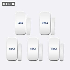 Image 1 - KERUI akıllı kablosuz kapı boşluğu yeni beyaz 433 Mhz İletişim kablosuz kapı pencere mıknatıs giriş dedektör sensörü pencere sensörleri