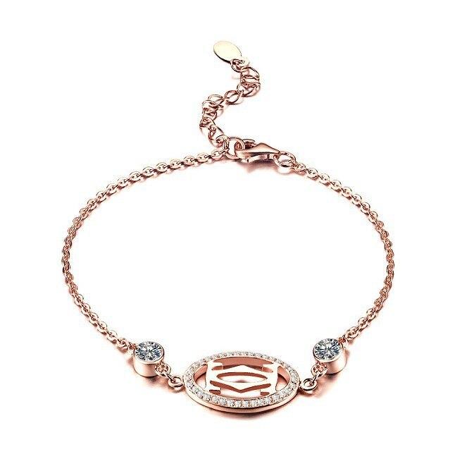 1 Carat Round Excellent Design Sona Synthetic Diamonds Bracelet