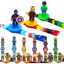 Legoingly Avengers Building blocks Watch Ninjagoed Marveling Super Hero Figures Bricks Toys Compatible Minecrafted Block Watch цена в Москве и Питере