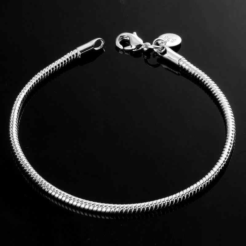 Яньхуэй, хорошее ювелирное изделие, 100% оригинал, чистое 925 пробы серебро, браслеты с подвесками для мужчин и женщин, с S925 штампом, свадебный подарок HB001