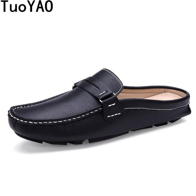 2017 New Summer Men Leather Loafers Shoes Hollow Out