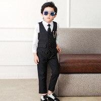 Dollplus 2019 Baby Boy Suit Wedding Suits for Boys Tuxedo Set Gentleman Suits Kids Boys Dresses Formal Suits(Vest+Shirt+Pant)