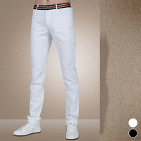 2017 spring and summer fashion white trousers men, men's casual pants, plus size high quality Slim was thin black pants. 28 42