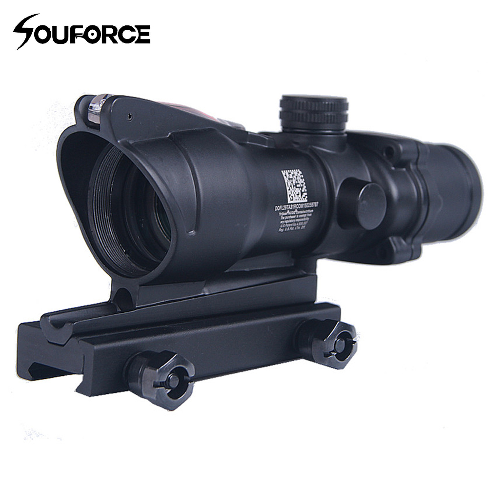 High Quality 4x32 Optics Sight Red Fiber Optical Scope Duel Illuminated Riflescope Airsoft Hunting Rifle Shotgun Scope st3038 shoot thing xwxs l85 susat iron 4x32 optical sight rifle shotgun scope quick detach for airsoft weaver mount