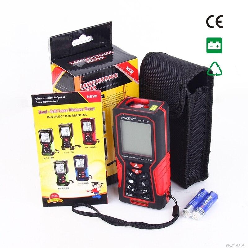 Original Noyafa NF-2100 Digital Distance Meter Laser Ruler Telemetre Medidor Tape Measure 100 Meters Rangefinder