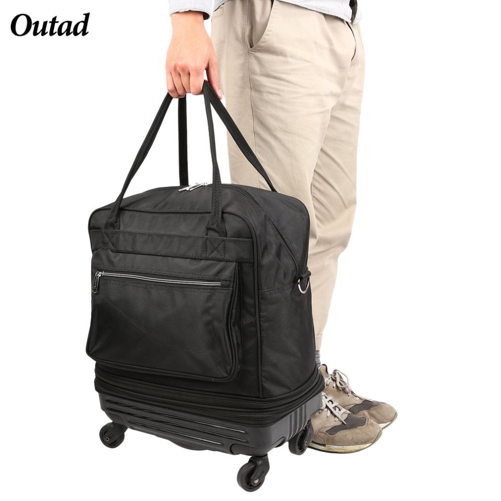 OUTAD 2018 Portable Luggage 20 L Men Waterproof Foldable Oxford Travel Luggage Bag With Universal Wheels ZX371200