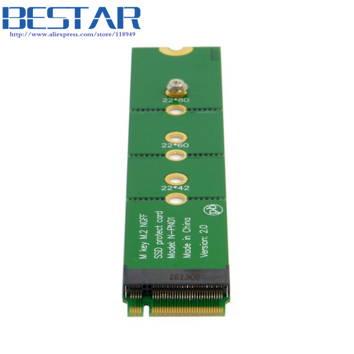 (100pieces/lot) PCI-E 2 Lane M.2 M key NGFF SSD Male to Female Extension Adapter Card for XP941 SM951 PM951 SM961