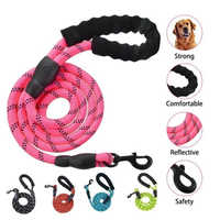 Durable Nylon Dog Sling Color 1.5M Pet Dog Leash Night Reflective Walking Training Traction Rope Dog Leash With Dog Leash