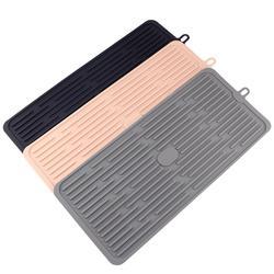 Nova sílica gel prato escorredor bandeja cozinha grande pia de secagem rack armazenamento worktop organizador utensílios cozinha talheres placa gotejamento
