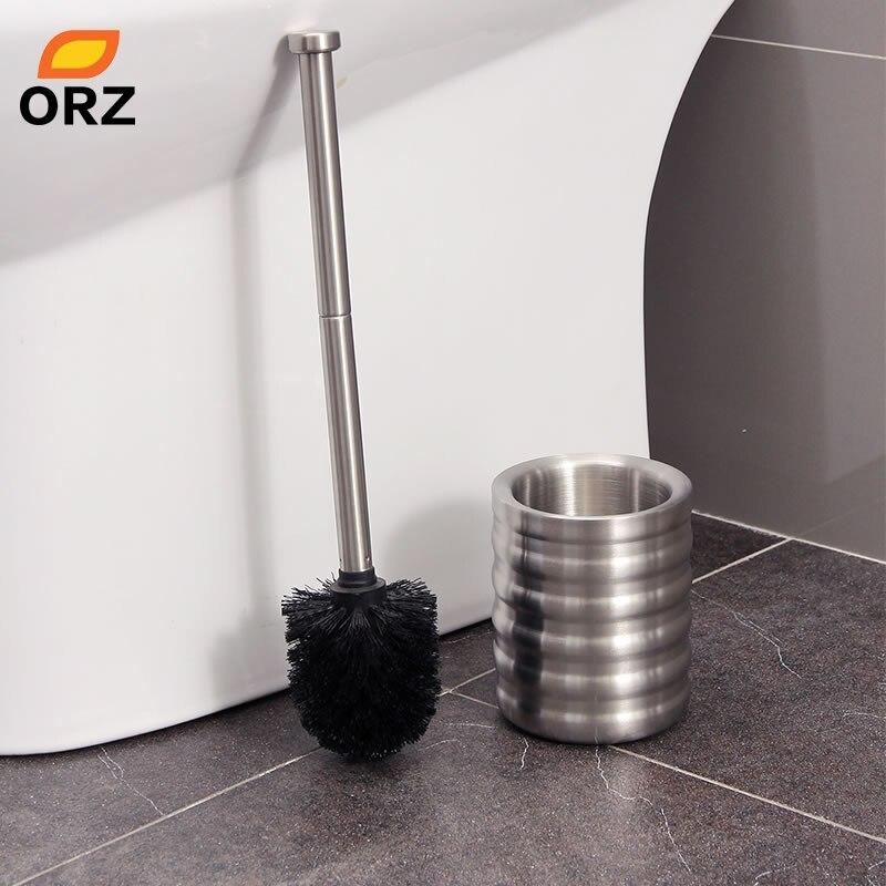 orz bathroom toilet brush holder set stainless steel toilet bowl cleaner brush with stand. Black Bedroom Furniture Sets. Home Design Ideas