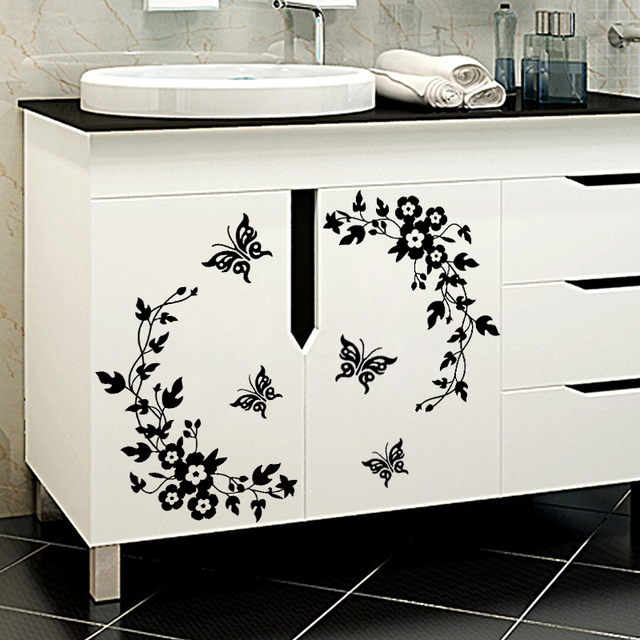 Classic Butterfly Flower Stickers