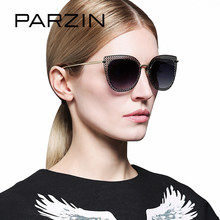 PARZIN Brand Sunglasses Retro Cat Eye Lens Women Colors Metal Frame 2017 New Fashion Hot Summer Anti UV400  Quality  8110