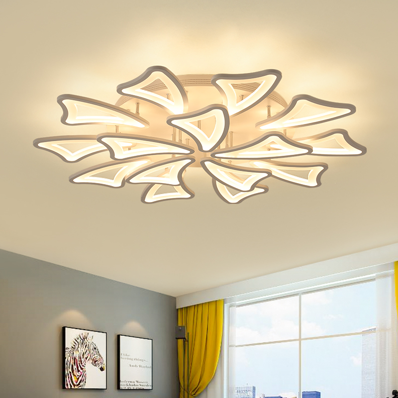 New modern led chandeliers for living room bedroom dining room acrylic iron body Indoor home chandelier lamp lighting fixtures modern crystal chandelier led hanging lighting european style glass chandeliers light for living dining room restaurant decor