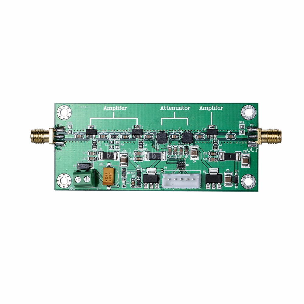 Radio Frequency RF Amplifier Module 50MHz-2GHz Bandwidth 0~60dB Adjustable Gain portable professional 2 4g wireless voice amplifier megaphone booster amplifier speaker wireless microphone fm radio mp3 playing