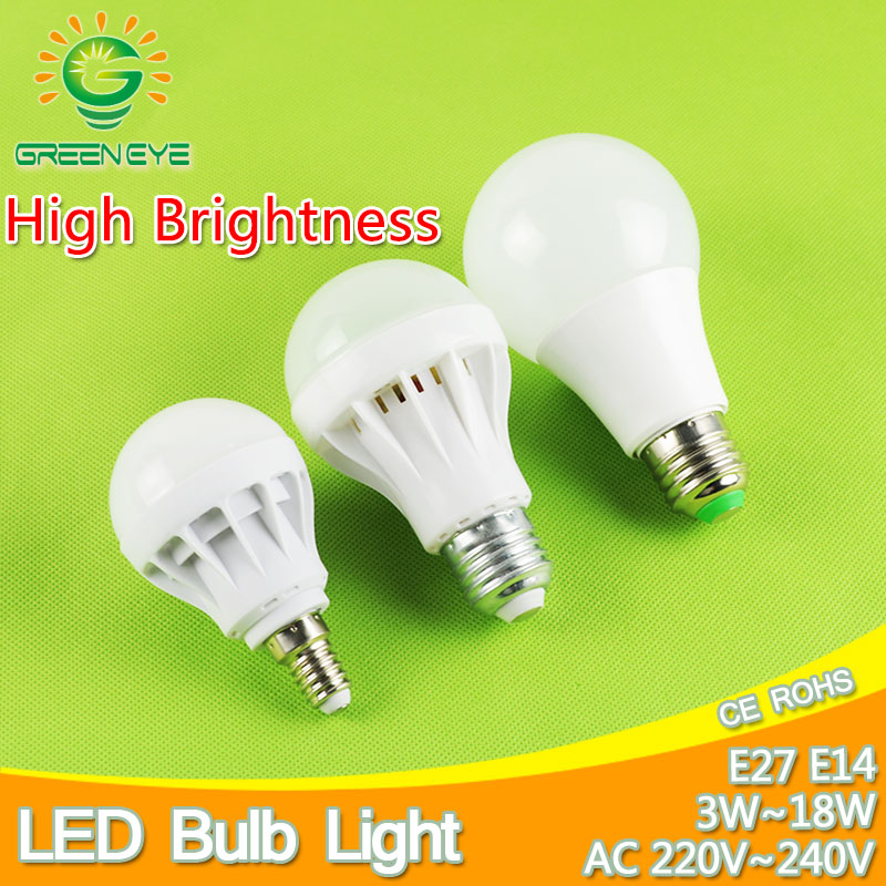 High-Grade E27 E14 LED Lamp LED Bulb Light 3W 5W 7W 9W 12W 15W 220V Real Watt SMD 2835 5730 LED lights Lampara Bombilla lampada цена