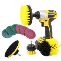 10Pcs/Set Tile Grout Power Scrubber Cleaning Drill Brush Kit Scrub Tub Cleaner Tools LB88
