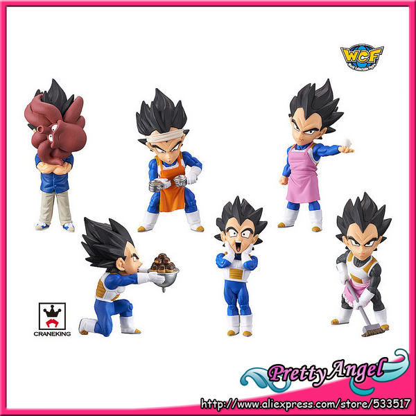 Figurine à collectionner originale de BANPRESTO World/figurine SUPER jouet WCF Dragon Ball-Prince Vegeta-ensemble complet de 6 pièces
