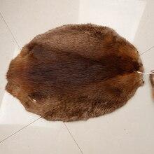 Дешевая цена натуральный коричневый овальной формы Бобровый мех шкуры из натурального меха для продажи