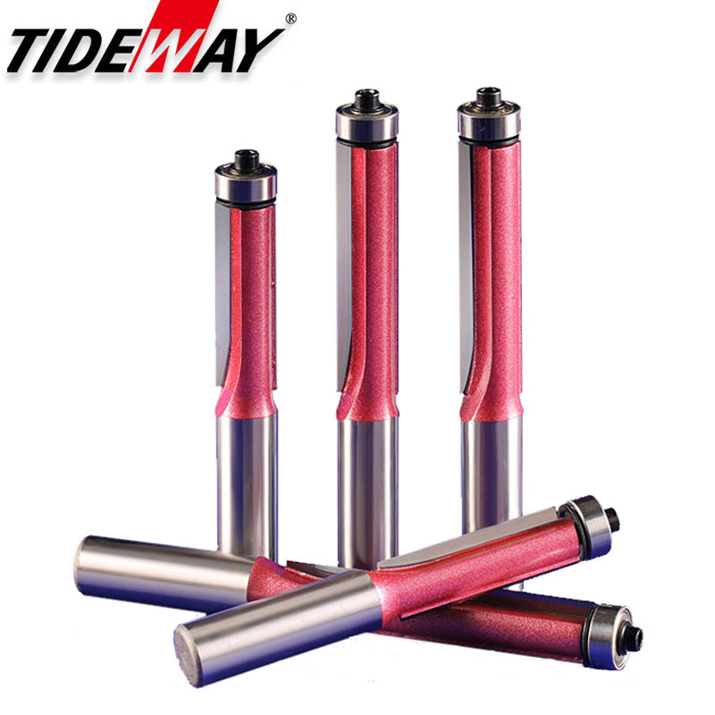 TideWay Industrial Grade Lengthed Bearing Trimming Knife Woodworking Cutter Engraving Router Bits  Edger Trimming CNC Cutter