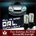 Guang Dian car led light DRL with turn light Daytime Running Lights with Front Turn Signals For Estima ACR50 T20 7440 WY21W