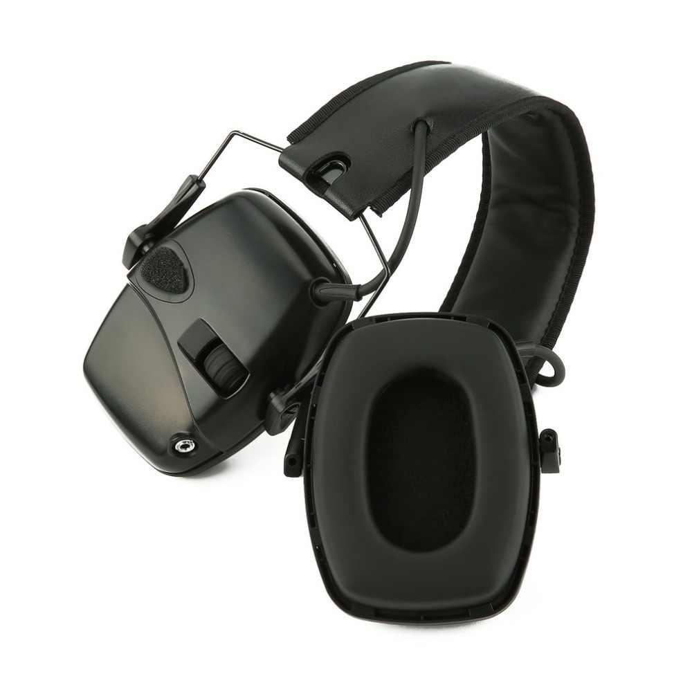 ירי אלקטרוני Earmuff חיצוני ספורט נגד רעש השפעה קול הגברה טקטי שמיעה מגן אוזניות מתקפל