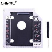 """CHIPAL Универсальный 2nd HDD Caddy 12,7 мм SATA 3,0 для 2,"""" 2 ТБ SSD чехол Корпус для жесткого диска со Светодиодный индикатор для ноутбука DVD-ROM"""