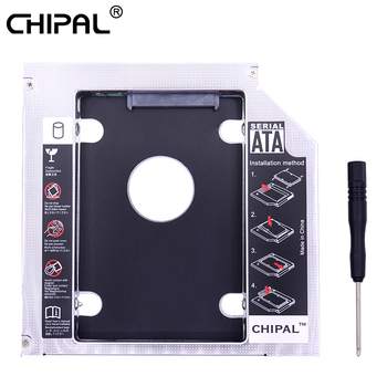 CHIPAL Universal 2nd HDD Caddy 12.7mm SATA 3.0 for 2.5″ 2TB SSD Case Hard Drive Enclosure with LED Indicator For Laptop DVD-ROM