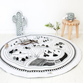 Shock! Moon Style Baby Blanket Game Mats Kids Crawling Mat Chilren Racing Games Play Carpet Infant Room Rugs 100%cotton 95cm