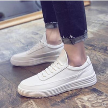 2019 new mens PU shoes casual light white adult breathable street 5