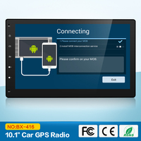 2G RAM 4 Core 2 Din Android 7.1 Car Radio In Dash 10.1 Inch 1024*600 HD Car GPS Navigation Head Unit Stereo Radio